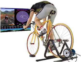 CompuTrainer is a world leader in the field of electronic indoor cycling training systems. This indoor bicycle trainer presents state of the art technology is combined with highly motivational 3D interactive graphics and Real Course Videos to create an outstandingly effective indoor cycling experience